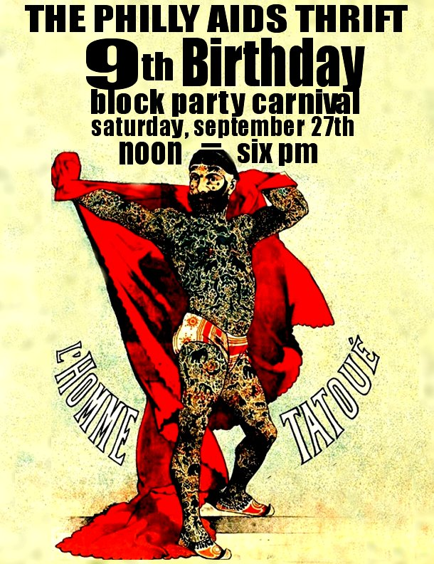 Philly AIDS Thrift 9th Anniversary Block Party Sat. SEPT 27th!!!